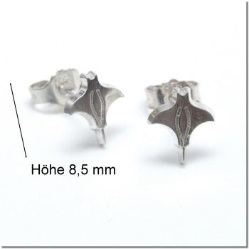 1 Paar Rochenohrstecker - CNC gefräst (280034)